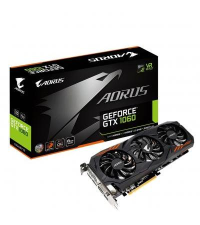 Видеокарта Gigabyte AORUS GeForce GTX 1060 Rev2.0 6 GB GDDR5 VR Ready Graphics Card