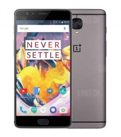 OnePlus 3T 5.5 inch OxygenOS 4G Phablet Snapdragon 821 Quad Core 2.35GHz 6GB RAM 64GB ROM 16.0MP Front Camera Corning Gorilla Glass 4 Optic AMOLED Screen - GRAY EU PLUG + GLOBAL VERSION 6GB RAM 64GB ROM