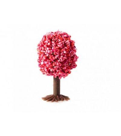 50mm Ready Made Oval Tree Dark Pink (1pc)