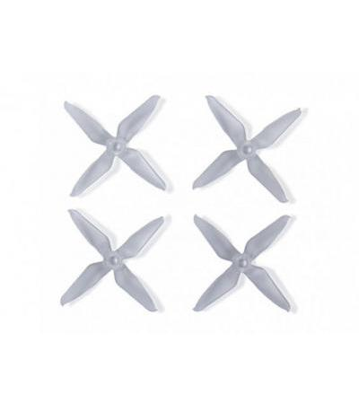 Team RaceKraft 3041 Q4CS 4 Blade Props - Clear (2 x CW, 2 x CCW)