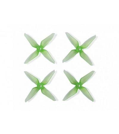 Team RaceKraft 3041 Q4CS 4 Blade Props - Clear Green (2 x CW, 2 x CCW)