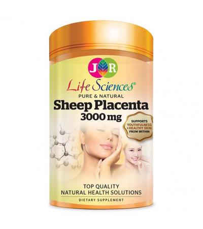 25% OFF JR Life Sciences Sheep Placenta 3000mg (120 Softgels)