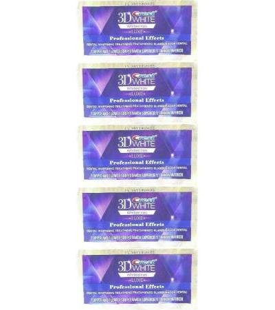 Crest 3D White LUXE Whitestrips Professional Whitening Effects 5 pouch 10 strips