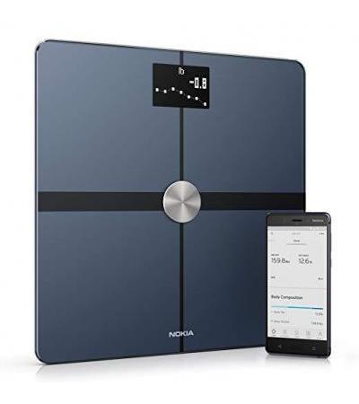 Withings / Nokia | Body+ - Smart Body Composition Wi-Fi Digital Scale with smartphone app, Black